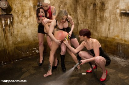 Photo number 3 from Gia Dimarco Completely Destroyed By Three Dominatrix! shot for Whipped Ass on Kink.com. Featuring Gia DiMarco, Lorelei Lee, Aiden Starr and Maitresse Madeline Marlowe in hardcore BDSM & Fetish porn.