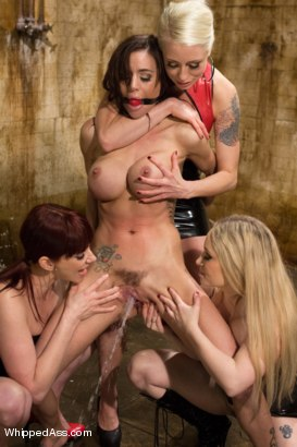 Photo number 5 from Gia Dimarco Completely Destroyed By Three Dominatrix! shot for Whipped Ass on Kink.com. Featuring Gia DiMarco, Lorelei Lee, Aiden Starr and Maitresse Madeline Marlowe in hardcore BDSM & Fetish porn.
