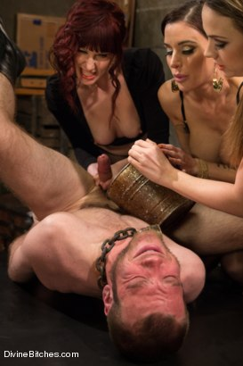 Photo number 6 from Milked To The Very Last Drop! shot for Divine Bitches on Kink.com. Featuring Maitresse Madeline Marlowe , Gia DiMarco, Chanel Preston and Jesse Carl in hardcore BDSM & Fetish porn.