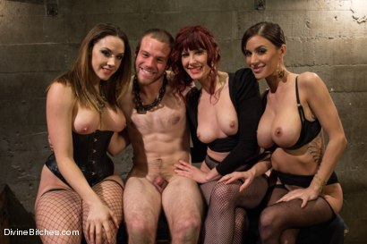 Photo number 8 from Milked To The Very Last Drop! shot for Divine Bitches on Kink.com. Featuring Maitresse Madeline Marlowe , Gia DiMarco, Chanel Preston and Jesse Carl in hardcore BDSM & Fetish porn.
