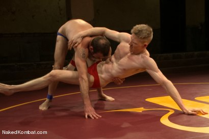 "Photo number 2 from Clayton ""Pile-Driver"" Kent vs Rob ""The Blitz"" Yaeger shot for Naked Kombat on Kink.com. Featuring Rob Yaeger and Clayton Kent in hardcore BDSM & Fetish porn."