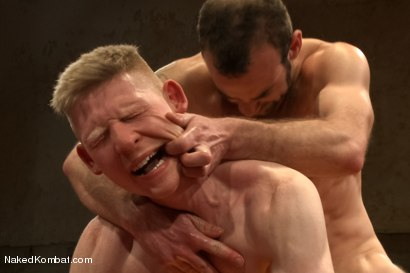 "Photo number 14 from Clayton ""Pile-Driver"" Kent vs Rob ""The Blitz"" Yaeger shot for Naked Kombat on Kink.com. Featuring Rob Yaeger and Clayton Kent in hardcore BDSM & Fetish porn."