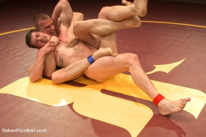 "Photo number 3 from Will ""The Punisher"" Parks vs Blake ""The Behemoth"" Daniels <br /> Two Goliaths Fight to Fuck shot for Naked Kombat on Kink.com. Featuring Blake Daniels and Will Parks in hardcore BDSM & Fetish porn."
