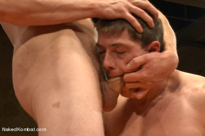 "Photo number 11 from Will ""The Punisher"" Parks vs Blake ""The Behemoth"" Daniels <br /> Two Goliaths Fight to Fuck shot for Naked Kombat on Kink.com. Featuring Blake Daniels and Will Parks in hardcore BDSM & Fetish porn."