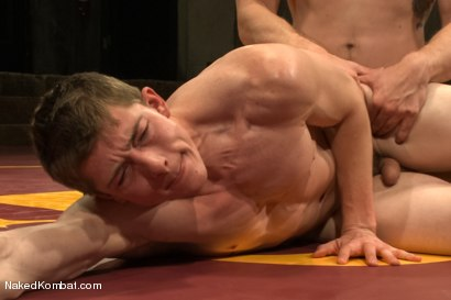 "Photo number 14 from Will ""The Punisher"" Parks vs Blake ""The Behemoth"" Daniels <br /> Two Goliaths Fight to Fuck shot for Naked Kombat on Kink.com. Featuring Blake Daniels and Will Parks in hardcore BDSM & Fetish porn."