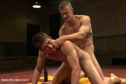 "Photo number 13 from Will ""The Punisher"" Parks vs Blake ""The Behemoth"" Daniels <br /> Two Goliaths Fight to Fuck shot for Naked Kombat on Kink.com. Featuring Blake Daniels and Will Parks in hardcore BDSM & Fetish porn."