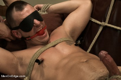 Photo number 12 from Hot physique model is curious about edging and bondage shot for Men On Edge on Kink.com. Featuring Adam Knox in hardcore BDSM & Fetish porn.