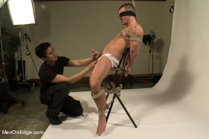 Photo number 5 from Hot physique model is curious about edging and bondage shot for Men On Edge on Kink.com. Featuring Adam Knox in hardcore BDSM & Fetish porn.