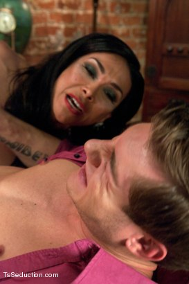 Photo number 5 from The Queen is BACK: Vaniity in a Mixed POV/regular V shoot taking Prey shot for TS Seduction on Kink.com. Featuring Vaniity and Vance Crawford in hardcore BDSM & Fetish porn.