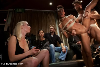 Photo number 14 from Nikki Darling DISGRACED ON STAGE: FISTED, FOOTED, AND FUCKED!!!! shot for Public Disgrace on Kink.com. Featuring Ramon Nomar, Nikki Darling and Lorelei Lee in hardcore BDSM & Fetish porn.