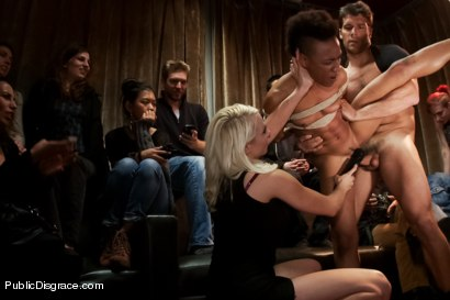 Photo number 9 from Nikki Darling DISGRACED ON STAGE: FISTED, FOOTED, AND FUCKED!!!! shot for Public Disgrace on Kink.com. Featuring Ramon Nomar, Nikki Darling and Lorelei Lee in hardcore BDSM & Fetish porn.