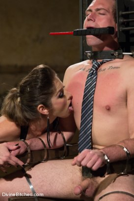 Photo number 11 from 4 Rules Of A Dominatrix Dungeon With The Fleshlight Pussy Machine shot for Divine Bitches on Kink.com. Featuring Felony and John Jammen in hardcore BDSM & Fetish porn.
