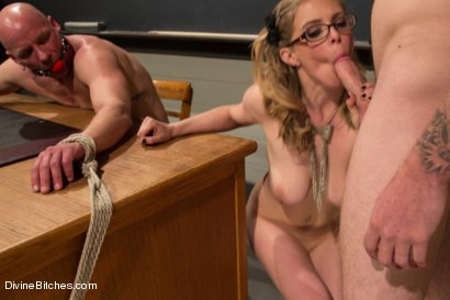 Photo number 15 from Bratty Princess Penny cuckolds her teacher in front of the class! shot for Divine Bitches on Kink.com. Featuring Penny Pax, Christian Wilde and Chad Rock in hardcore BDSM & Fetish porn.