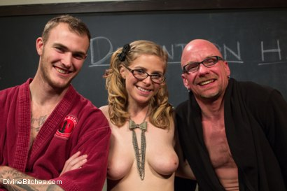 Photo number 7 from Bratty Princess Penny cuckolds her teacher in front of the class! shot for Divine Bitches on Kink.com. Featuring Penny Pax, Christian Wilde and Chad Rock in hardcore BDSM & Fetish porn.