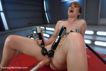 Photo number 10 from Firey Ginger Loves the FuckingMachines in Her Pussy and Ass shot for Fucking Machines on Kink.com. Featuring Claire Robbins in hardcore BDSM & Fetish porn.