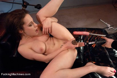 Photo number 14 from  Via The Puss! Hot Frenchie Machine Fucked till She SQUIRTS shot for Fucking Machines on Kink.com. Featuring Nikita Bellucci in hardcore BDSM & Fetish porn.