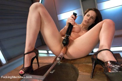 Photo number 5 from  Via The Puss! Hot Frenchie Machine Fucked till She SQUIRTS shot for Fucking Machines on Kink.com. Featuring Nikita Bellucci in hardcore BDSM & Fetish porn.
