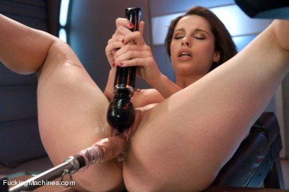 Photo number 6 from  Via The Puss! Hot Frenchie Machine Fucked till She SQUIRTS shot for Fucking Machines on Kink.com. Featuring Nikita Bellucci in hardcore BDSM & Fetish porn.