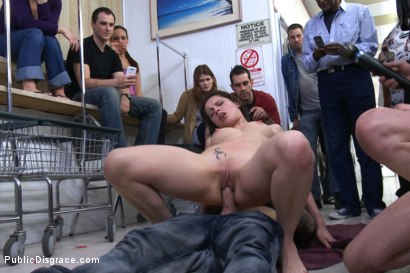 Photo number 11 from French Beauty Anally Fucked in Public shot for Public Disgrace on Kink.com. Featuring Nikita Bellucci and Astral Dust in hardcore BDSM & Fetish porn.