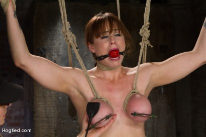 Photo number 8 from Bimbo With Big Tits Gets Wrecked! shot for Hogtied on Kink.com. Featuring Bella Rossi in hardcore BDSM & Fetish porn.
