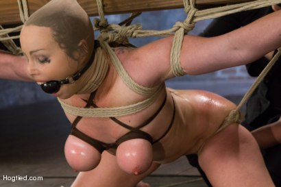 Photo number 13 from Bimbo With Big Tits Gets Wrecked! shot for Hogtied on Kink.com. Featuring Bella Rossi in hardcore BDSM & Fetish porn.