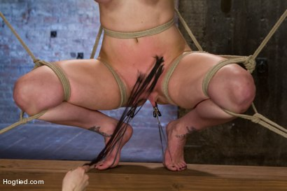 Photo number 6 from Bimbo With Big Tits Gets Wrecked! shot for Hogtied on Kink.com. Featuring Bella Rossi in hardcore BDSM & Fetish porn.