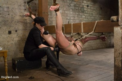Photo number 11 from Bimbo With Big Tits Gets Wrecked! shot for Hogtied on Kink.com. Featuring Bella Rossi in hardcore BDSM & Fetish porn.