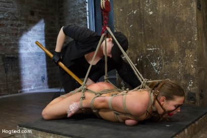 Photo number 11 from 20 year old Ashlynn & ginger Odile get shown the ropes & defiled! shot for Hogtied on Kink.com. Featuring Ashlynn Leigh and Odile in hardcore BDSM & Fetish porn.