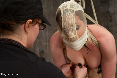 Photo number 15 from 20 year old Ashlynn & ginger Odile get shown the ropes & defiled! shot for Hogtied on Kink.com. Featuring Ashlynn Leigh and Odile in hardcore BDSM & Fetish porn.