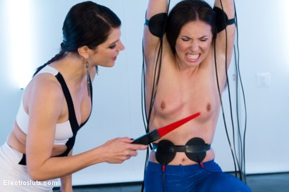 Photo number 2 from Bobbi Starr Tests Casey Calvert shot for Electro Sluts on Kink.com. Featuring Casey Calvert  and Bobbi Starr in hardcore BDSM & Fetish porn.