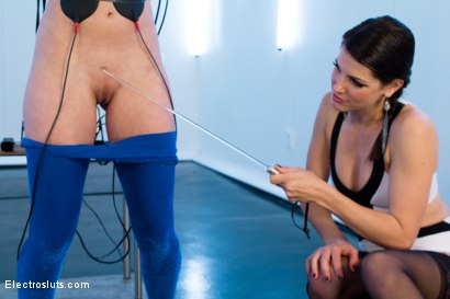 Photo number 5 from Bobbi Starr Tests Casey Calvert shot for Electro Sluts on Kink.com. Featuring Casey Calvert  and Bobbi Starr in hardcore BDSM & Fetish porn.