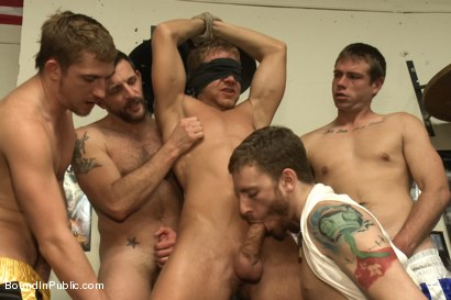 Photo number 9 from Loudmouth muscle-head gets taken down and gang fucked at a boxing gym shot for Bound in Public on Kink.com. Featuring Alex Adams, Morgan Black and Dayton O'Connor in hardcore BDSM & Fetish porn.