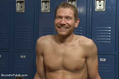 Photo number 15 from Loudmouth Gym Freak Fucked and Pissed on in Boxing Gym Locker Room  shot for Bound in Public on Kink.com. Featuring Alex Adams, Morgan Black and Dayton O'Connor in hardcore BDSM & Fetish porn.