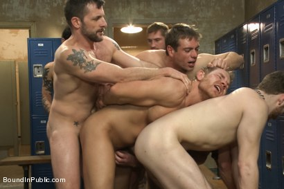 Photo number 10 from Loudmouth Gym Freak Fucked and Pissed on in Boxing Gym Locker Room  shot for Bound in Public on Kink.com. Featuring Alex Adams, Morgan Black and Dayton O'Connor in hardcore BDSM & Fetish porn.