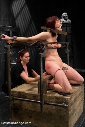 Photo number 6 from Mz Berlin vs Odile shot for Device Bondage on Kink.com. Featuring Mz Berlin and Odile in hardcore BDSM & Fetish porn.