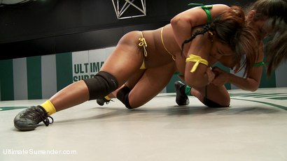 Photo number 17 from Super Voluptuous Welter Weights battle it out in the Quarter finals. shot for Ultimate Surrender on Kink.com. Featuring Yasmine Loven and Penny Barber in hardcore BDSM & Fetish porn.