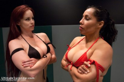 Photo number 15 from Welter Weight Semi-final match La Diabla vs The Annihilator V2.0 shot for Ultimate Surrender on Kink.com. Featuring Izamar Gutierrez and Bella Rossi in hardcore BDSM & Fetish porn.