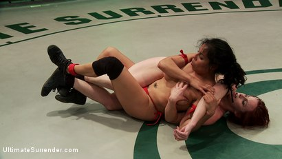 Photo number 3 from Welter Weight Semi-final match La Diabla vs The Annihilator V2.0 shot for Ultimate Surrender on Kink.com. Featuring Izamar Gutierrez and Bella Rossi in hardcore BDSM & Fetish porn.