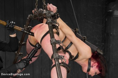 Photo number 7 from Nerine takes it all! Intense immobilizing positions  shot for Device Bondage on Kink.com. Featuring Nerine Mechanique in hardcore BDSM & Fetish porn.