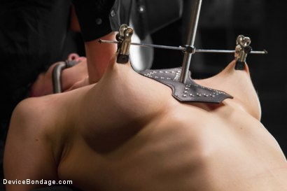 Photo number 8 from Nerine takes it all! Intense immobilizing positions  shot for Device Bondage on Kink.com. Featuring Nerine Mechanique in hardcore BDSM & Fetish porn.