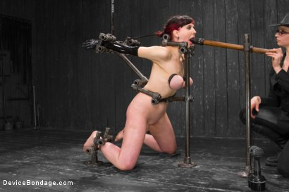 Photo number 1 from Nerine takes it all! Intense immobilizing positions  shot for Device Bondage on Kink.com. Featuring Nerine Mechanique in hardcore BDSM & Fetish porn.