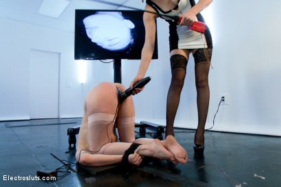 Photo number 18 from Missy Minks is FINALLY back for Electrosex!! shot for Electro Sluts on Kink.com. Featuring Bobbi Starr and Missy Minks in hardcore BDSM & Fetish porn.