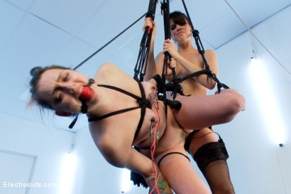 Photo number 17 from Bobbi Starr Strap-on Electrofucks Missy Minx in Suspension Bondage! shot for Electro Sluts on Kink.com. Featuring Bobbi Starr and Missy Minks in hardcore BDSM & Fetish porn.