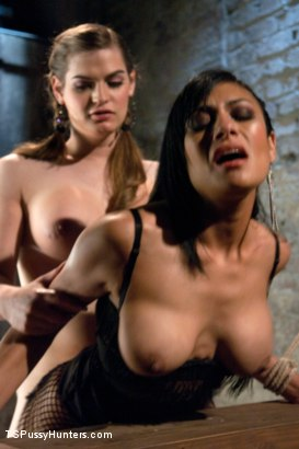 Photo number 10 from Bound and Switch: Two Girls, One Cock and One Pussy shot for tspussyhunters on Kink.com. Featuring Tiffany Starr and Beretta James in hardcore BDSM & Fetish porn.