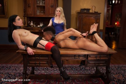 Photo number 5 from Lesbian Pussy Service shot for The Upper Floor on Kink.com. Featuring Nikki Darling, Juliette March and Aiden Starr in hardcore BDSM & Fetish porn.