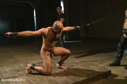 Photo number 8 from The Legend, The Present and The Future shot for Bound Gods on Kink.com. Featuring Leo Forte, Hayden Richards and Van Darkholme in hardcore BDSM & Fetish porn.