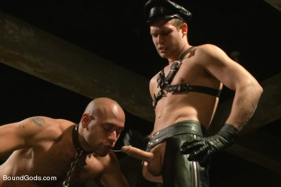 Photo number 11 from The Legend, The Present and The Future shot for Bound Gods on Kink.com. Featuring Leo Forte, Hayden Richards and Van Darkholme in hardcore BDSM & Fetish porn.