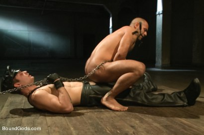 Photo number 4 from The Legend, The Present and The Future shot for Bound Gods on Kink.com. Featuring Leo Forte, Hayden Richards and Van Darkholme in hardcore BDSM & Fetish porn.