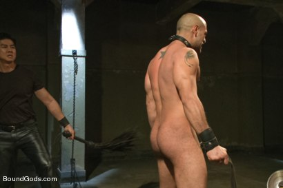 Photo number 6 from The Legend, The Present and The Future shot for Bound Gods on Kink.com. Featuring Leo Forte, Hayden Richards and Van Darkholme in hardcore BDSM & Fetish porn.