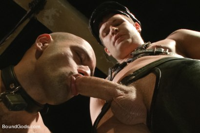 Photo number 2 from The Legend, The Present and The Future shot for Bound Gods on Kink.com. Featuring Leo Forte, Hayden Richards and Van Darkholme in hardcore BDSM & Fetish porn.